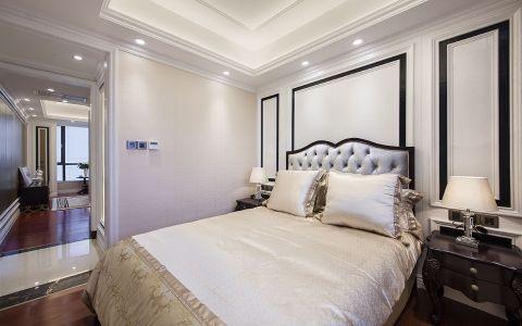 卧室白色背景墙欧式风格装潢效果图