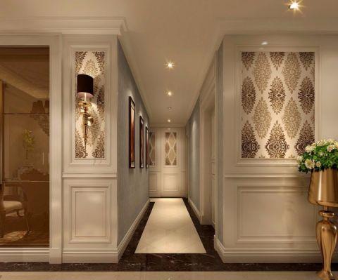 玄关白色走廊简欧风格装修设计图片
