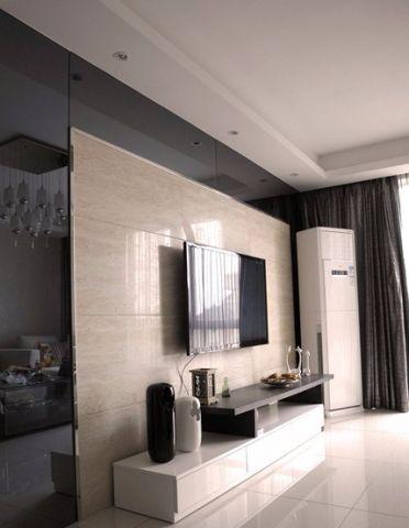 客厅背景墙现代简约装饰效果图