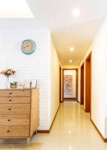 玄关白色走廊混搭风格装饰图片