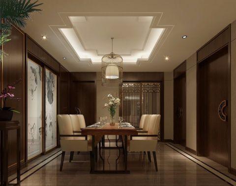 餐厅米色吊顶中式风格装饰图片