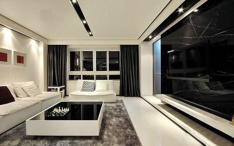 现代风格180平米复式房子装饰效果图