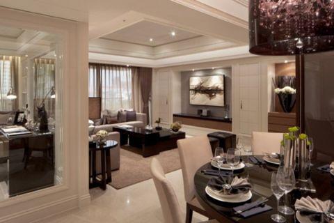 后现代装修风格三居室效果图
