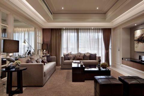 后现代风格134平米3房2厅房子装饰效果图