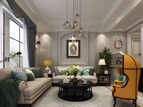后现代风格120平米三房两厅新房装修效果图