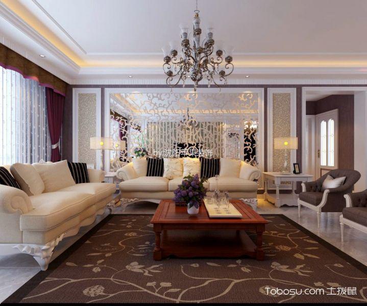 中海国际社区四室两厅简欧风格效果图