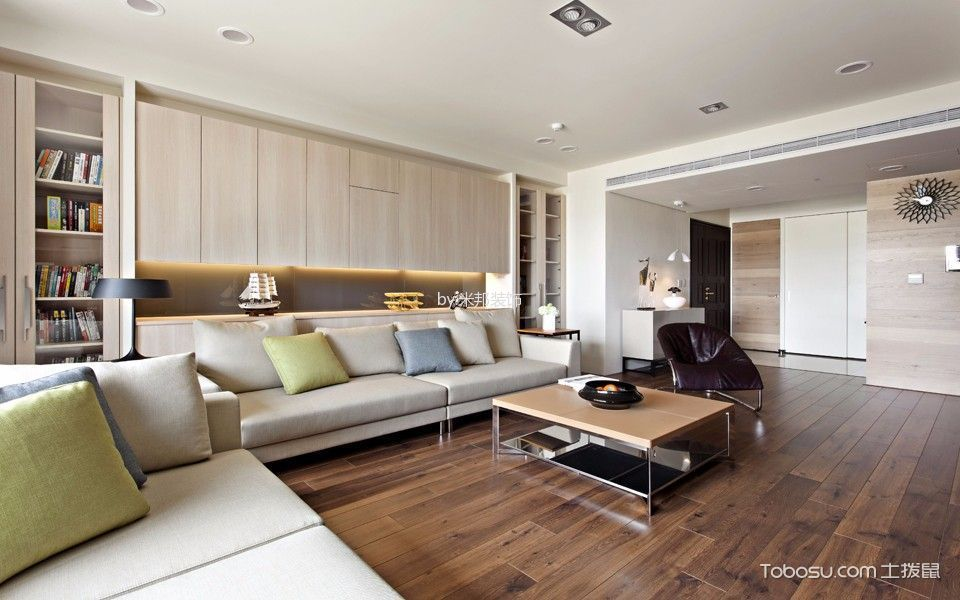 现代风格136平米3房2厅房子装饰效果图