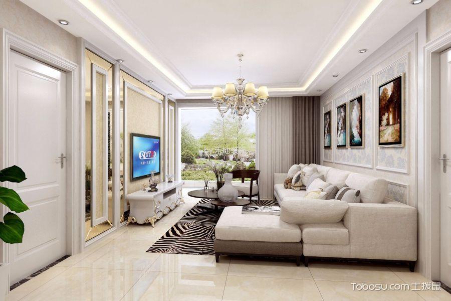 简欧风格90平米小户型室内装修效果图