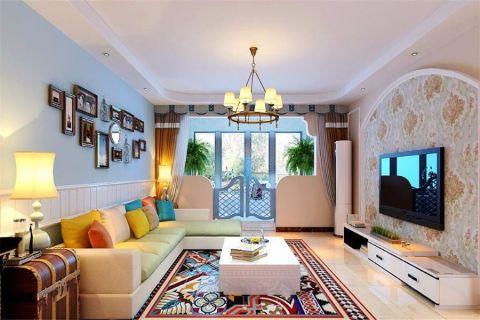 地中海风格140平米楼房新房装修效果图