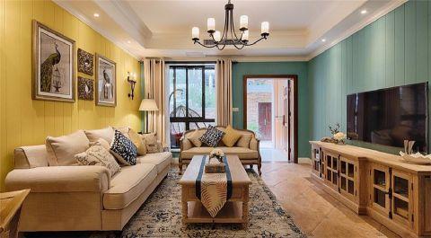 混搭风格100平米公寓室内装修效果图