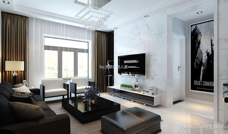 简约风格106平米三房两厅新房装修效果图