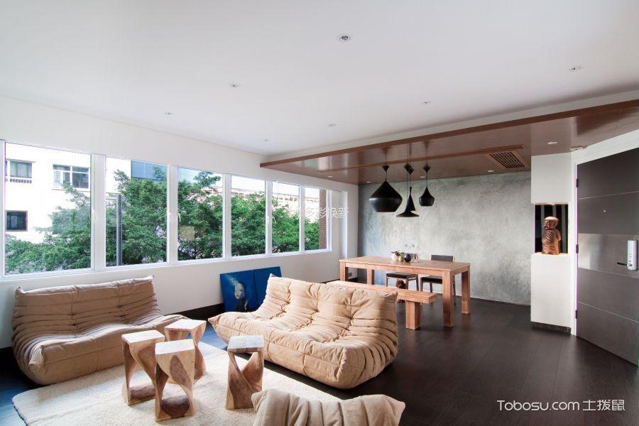 现代风格120平米公寓室内装修效果图