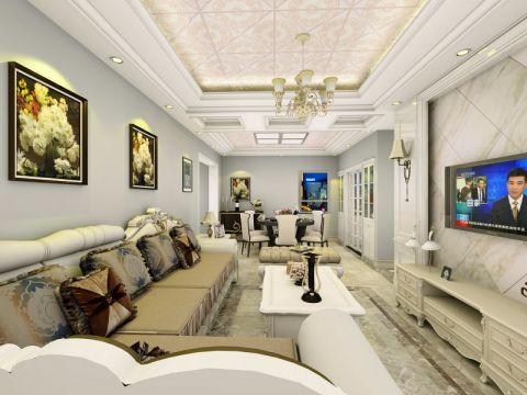 简欧风格80平米小户型房子装饰效果图