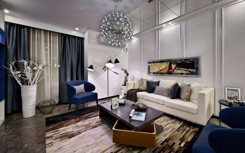 美式风格80平米小户型室内装修效果图