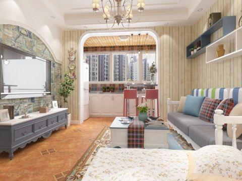 2019地中海70平米设计图片 2019地中海二居室装修设计