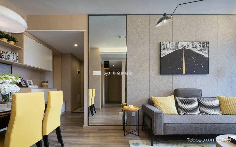 客厅米色走廊北欧风格装修图片