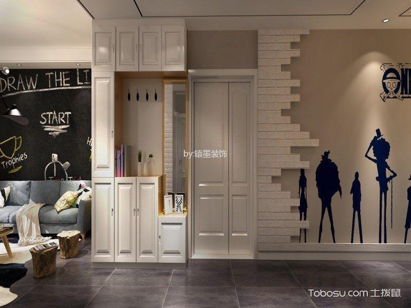 玄关 背景墙_华地翡翠蓝湾三居室现代风格效果图