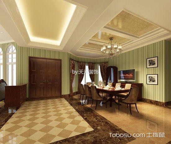 餐厅绿色照片墙新古典风格装修图片