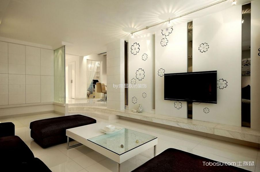 现代简约风格155平米四室两厅室内装修效果图