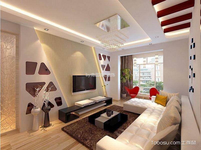 青云明珠100平现代简约风格二居室装修效果图