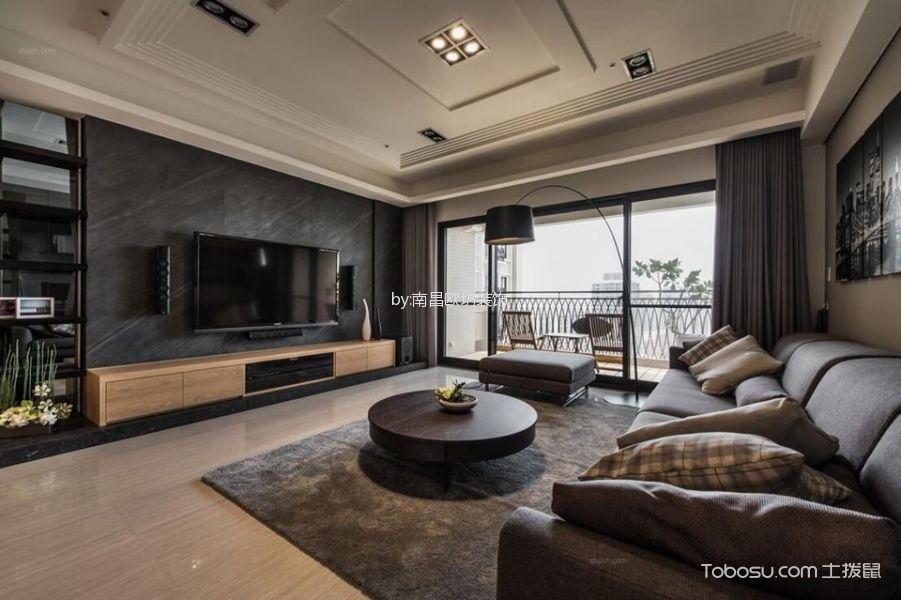 九龙帝景湾现代简约风格三居室装修效果图