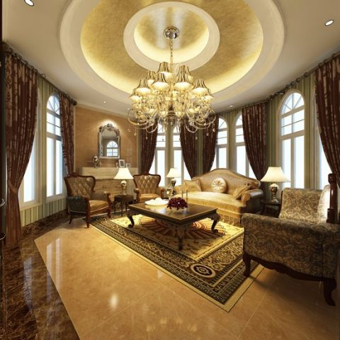 新古典风格400平米别墅房子装饰效果图