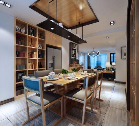 高贵风雅餐厅木格栅吊顶平面图