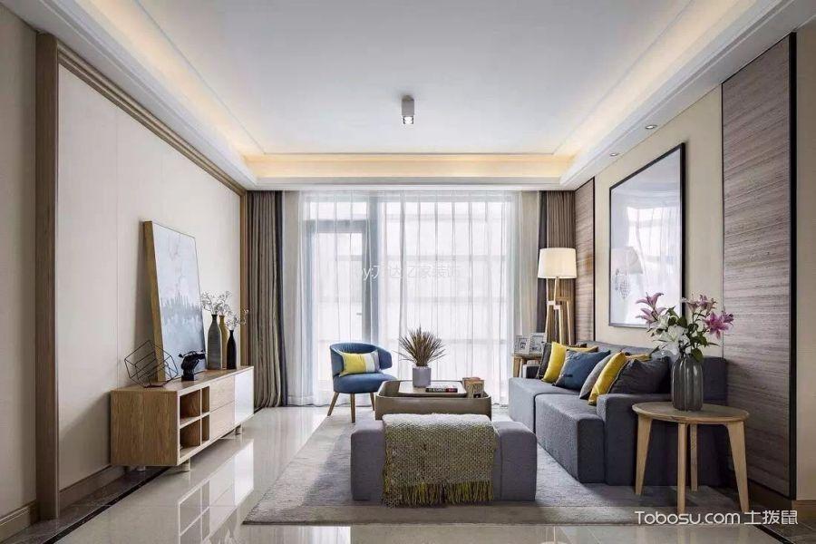 简约风格102平米三室两厅室内装修效果图