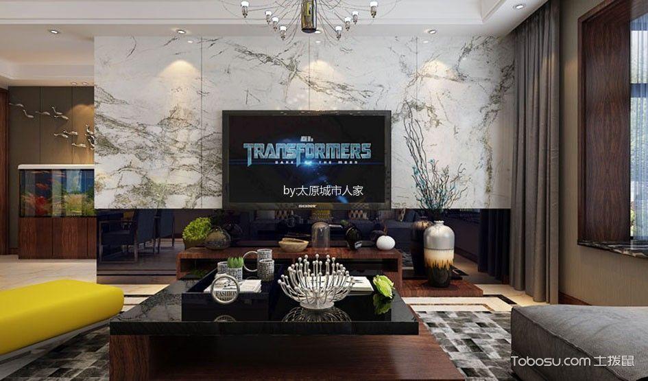 龙景逸墅三居室现代风格设计