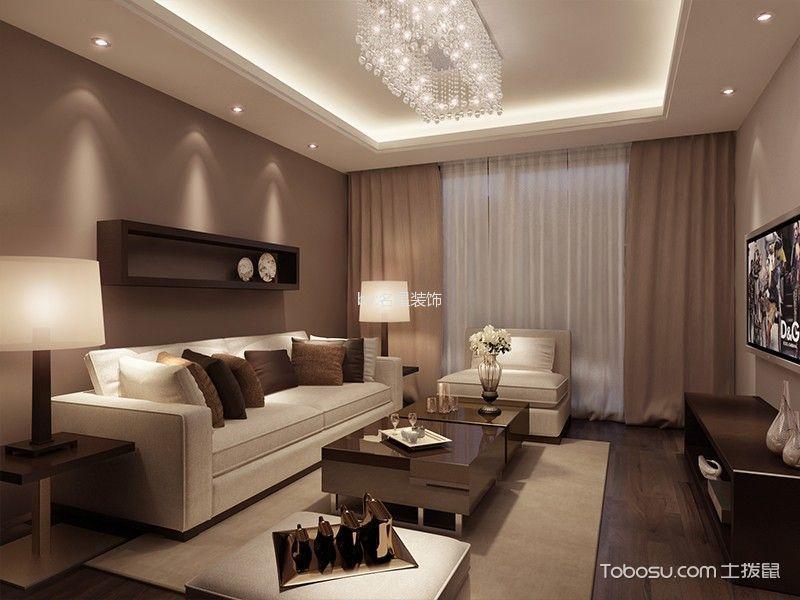 现代简约风格87平米2房2厅房子装饰效果图