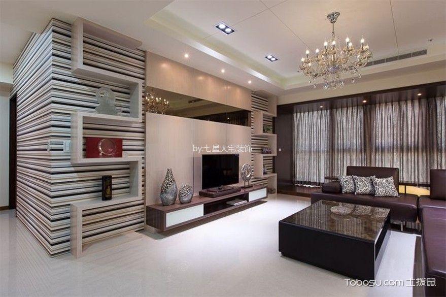 现代风格96平米三房两厅新房装修效果图