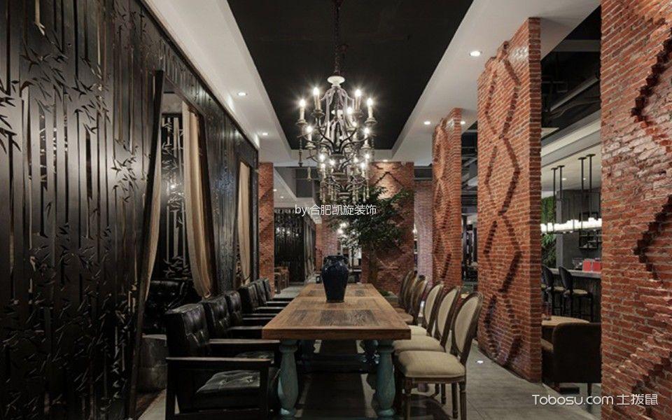 复古风格咖啡馆吊顶装饰效果图