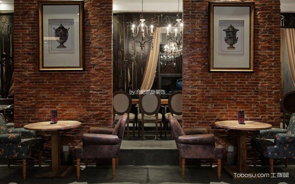 复古风格咖啡馆背景墙装修设计图片