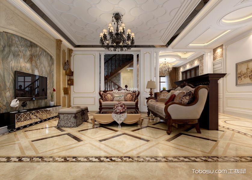 欧式风格400平米别墅新房装修效果图