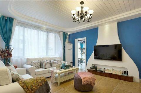 田园风格160平米大户型室内装修效果图