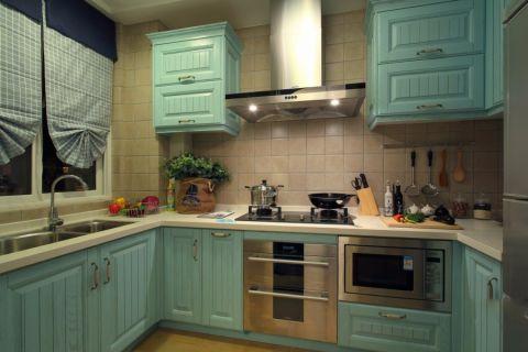 厨房窗帘地中海风格装饰效果图
