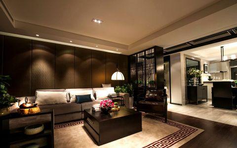 德禾豪景新中式风格三居室效果图