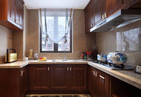 厨房窗台欧式风格装潢效果图