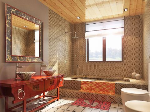 卫生间吊顶中式风格装潢效果图