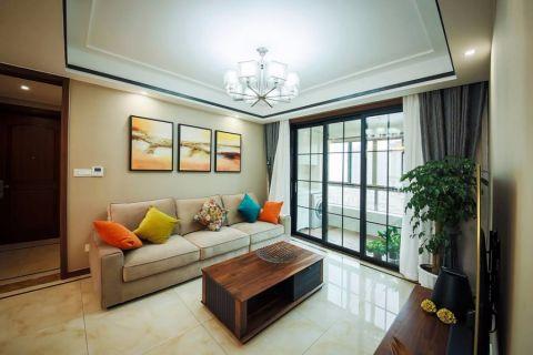 89平米小户型美式二居室装修实景