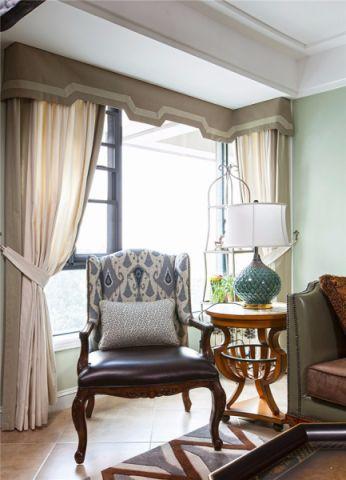 客厅飘窗美式风格装修图片