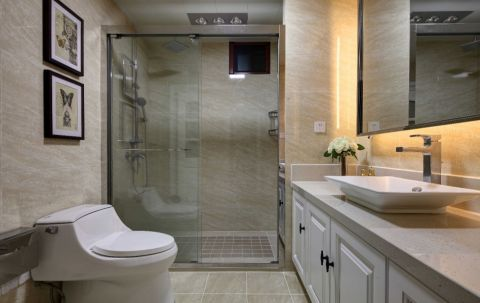 卫生间现代简约风格装潢设计图片