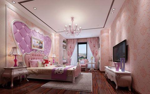 儿童房背景墙混搭风格装潢设计图片