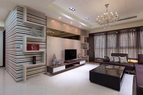 华润二十四城现代96平米三居室装修图