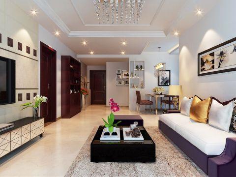 广电兰亭时代83平简约风格二居室装修案例