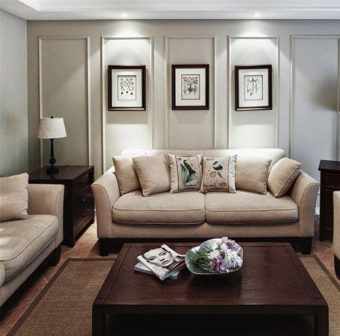 中式风格110平米三室两厅室内装修效果图