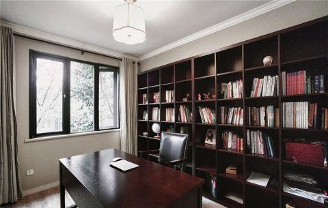 书房博古架中式风格装饰设计图片