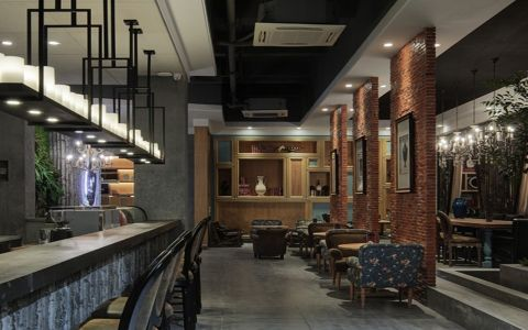 复古风格咖啡馆效果图