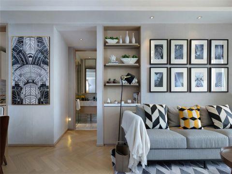 客厅照片墙简欧风格装饰设计图片