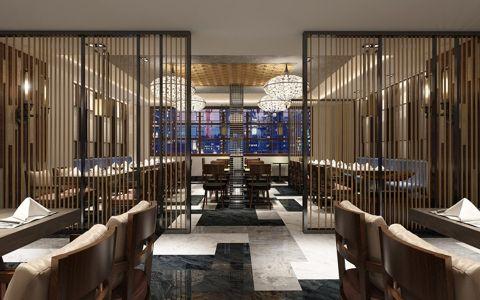 时尚风格餐馆装修效果图案例